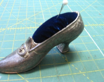 Sewing, Supply, pincushion, Metal, vintage, Florenz, Shoe, mini, miniature  (Pincushion)