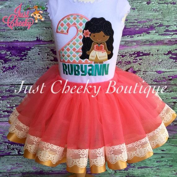 Moana Birthday Outfit -Moana Birthday Shirt -Disney Moana Girls Birthday -Maui Party-Girls Birthday Shirt