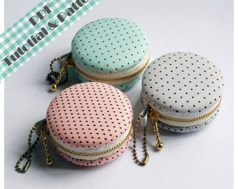 15% OFF PDF Macaron Coin Purse - Tutorial & Patterns (INSTANT Download)