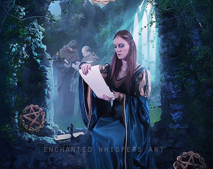 Three of Pentacles fantasy art print
