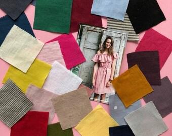 Set Of Linen Fabric Samples