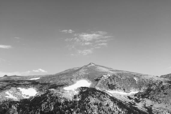 Fine Art Photography | Trail Ridge Peak Black and White  Print | Wall Art