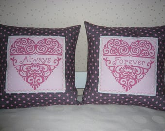 """""""Always Forever"""" way patchwork cushions"""
