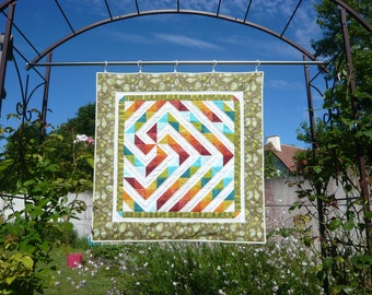"""""""Leave a mill"""" patchwork wall hanging"""