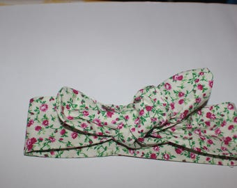 Headband for baby girl cotton fabric with flowers