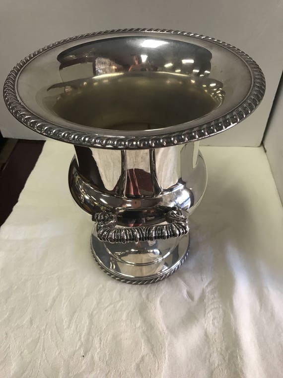Silverplate loving cup or champagne server