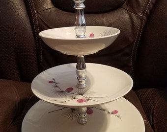 Vintage 3 Tier Candy/Snack Tray