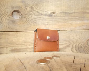 Slim leather wallet, Coin purse, Card  holder, Coin wallet leather, Men's leather wallet, Leather card wallet, Business card case, Handmade