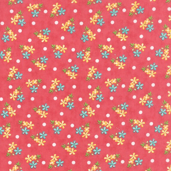 Corey Yoder Little Miss Shabby Prairie Sprigs Pink Quilt Fabric. 29003-16
