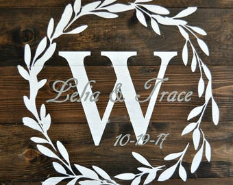 Wedding, Wedding Sign, Family Established Wooden Sign, Wedding Established Wooden Sign, Est. Sign, Not Wood Pallet,