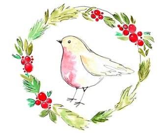 Robin Watercolour Digital Download