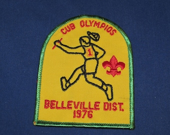 BOY SCOUTS Cub Olympics Patch 1976 Cub Scouts