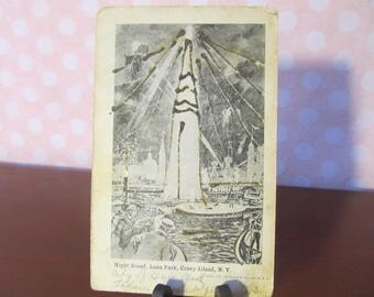 1906 Post Card of Night Scene,Luna Park, Coney Island,