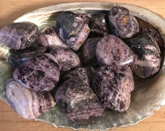 Charolite Stone, Stone of Transformation,Tumbled Stone, Healing Stone, Healing Crystal, Chakra Stone, Spiritual Stone