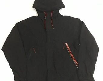 90s Polo Windbreaker Black Jacket Polo Sport Ralph Lauren Hoodie Sweater Polo Fleece Jacket Size M #J250