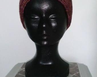 Wide headband brunchine, pure wool for winter!