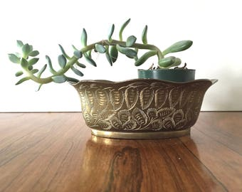 Etched Brass Planter