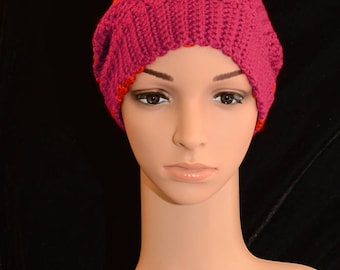 Vibrant Red Slouchy Hat