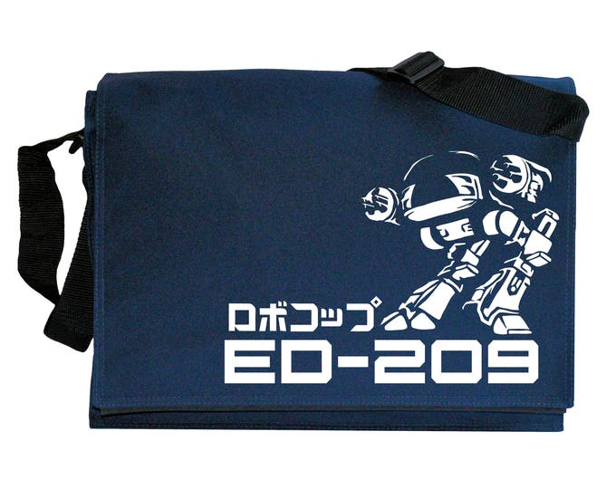 Japanese ED 209 inspired Cyborg Navy Blue Messenger Shoulder Bag