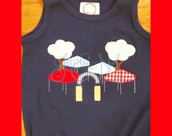 5x7 Mississippi Tailgate Applique Embroidery Design
