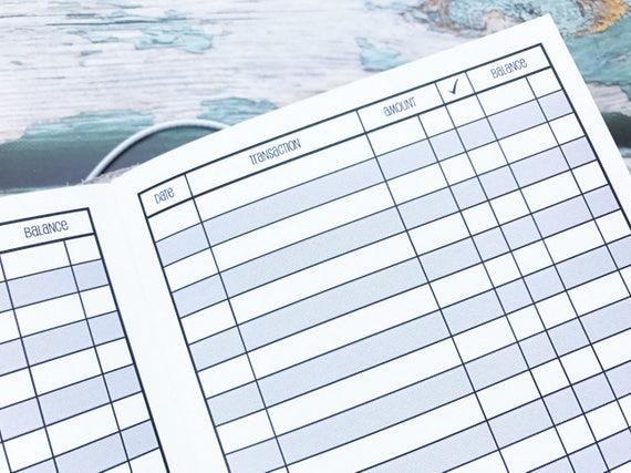 traveler u0026 39 s notebook b6 size checkbook register style