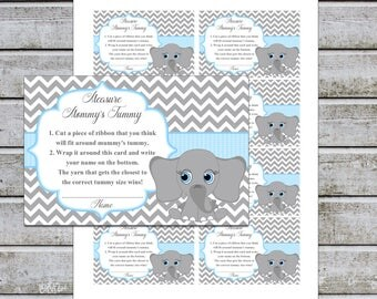 Baby Shower Games Measure Mommy's Tummy How Big Is Mommy's Belly Game Cards Instant Download (49DMMT2)