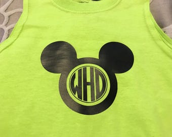 Boys/Infants Mickie Mouse Circle Monogram Tee