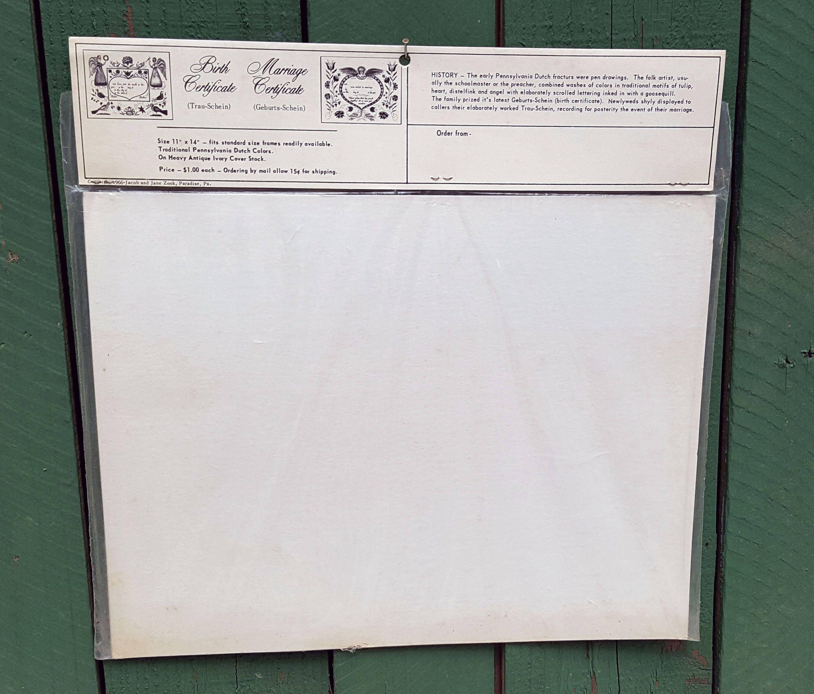 Vintage pennsylvania dutch birth certificate watercolor get shipping estimate aiddatafo Gallery