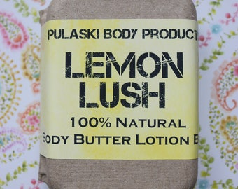 Lemon Lush Body Butter Lotion Bar
