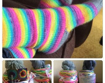 Ready to Ship - Self Striping Sock Yarn Unicorn hole