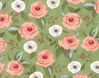 Farmers Daughter Fabric Painted Bouquet in Grass by Vanessa Goertzen of Lella Boutique for Moda Fabrics
