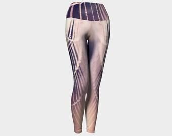 Purple Yoga Pants, Fashion Leggings, Cob Web Leggings, Pink Yoga Pants, Spider Web Leggings, Digital Print Leggings, Nature Photo Leggings