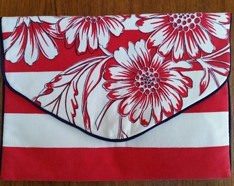 Clutch/Tablet Case made from Vintage Tablecloth