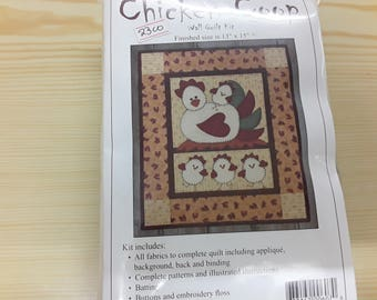 Chicken Coop wall quilt kit 13x15""