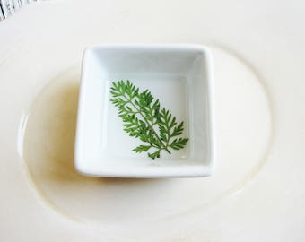Engagement Dish, Fern Dish, Ring Keeper, Ring Dish, Small Organizer, Jewelry Storage, Ring Dish with Pressed Fern, Minimalist Ring Holder