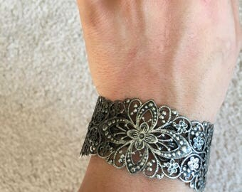 Vintage Steampunk Cuff Bracelet