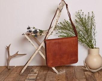 Handmade Leather Vintage Style Bag - Satchel Bag - Messenger - Laptop Bag - Cross Body Bag