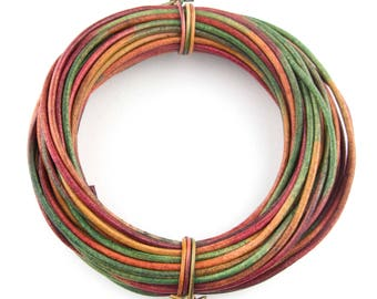 Kinte Gypsy Natural Dye Round Leather Cord 2mm 100 meters (109 yards)