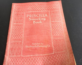Antique Priscilla Smocking Book,1925,Patterns,Directions,Augusta,Maine,32 pages,Art of Smocking