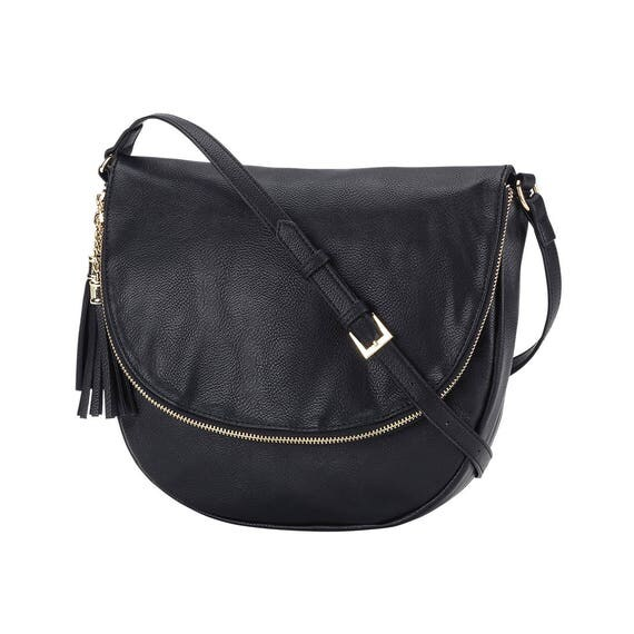 black sienna tassel crossbody purse monogram purse personalized gift monogrammed crossbody bag