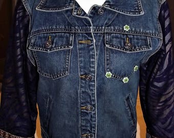 Refurbished Womens Denim Jacket-Size M