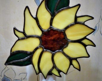 Stained Glass Sunflower Nightlight- Handcrafted in the USA