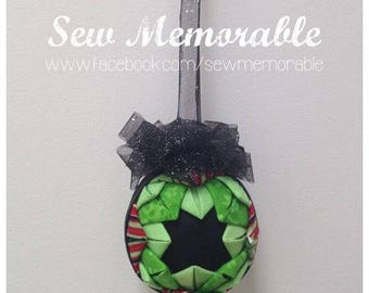 Hand quilted Christmas Bauble - Starry Nights