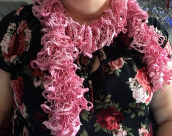 Pink Ruffle  Fashion Scarf