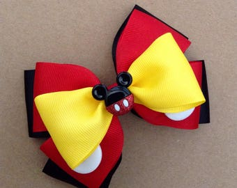 Mr. Mickey Mouse Hair Bow