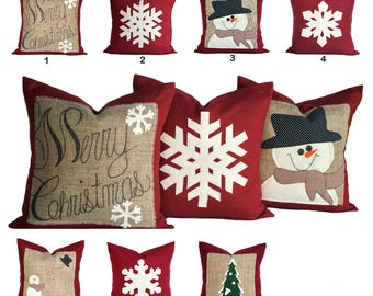 One Christmas Pillow cover, holiday pillows, Christmas Pillow, decorative pillow, cushion, Christmas decoration