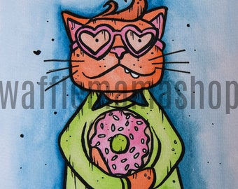 Donut Dreamboat Cat