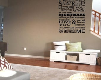 EVERYTHING IS 20% OFF A Parent's Promise Wall Decal Vinyl Decals Wall Decor Wall Art