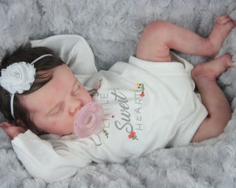 Reborn Baby Twin A by Bonnie Brown Beautifully Sculpted w/ certificate of authenticity