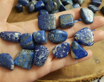 Lapis Lazuli~ 1 small/medium Reiki infused tumbled stone approx .6-.8 inch